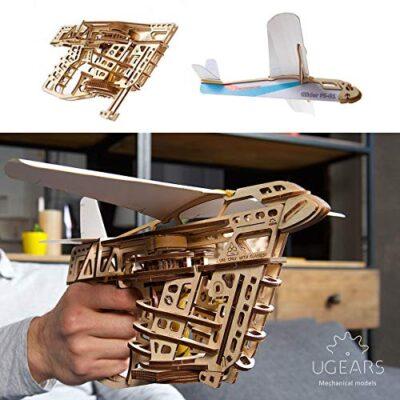 Ugears Modello Legno 3d Puzzle Lanciatore Di Aerei Modello Di Legno 3d Puzzle Per Adulti Kit Fai Da Te Da Costruire Modellino Meccanico In Legno Puzzle 3d In Legno Tagliato Al Laser 0 0