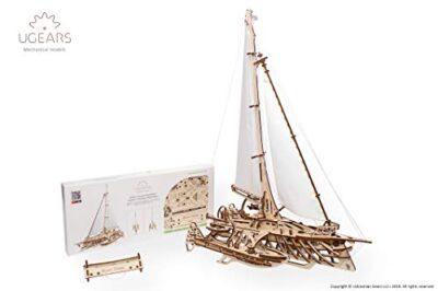 Ugears Trimarano A Vela Merihobus Modello In Legno 3d Puzzle Per Adulti Modello Meccanico Rompicapo Da Costruire Da Collezionare 0 0