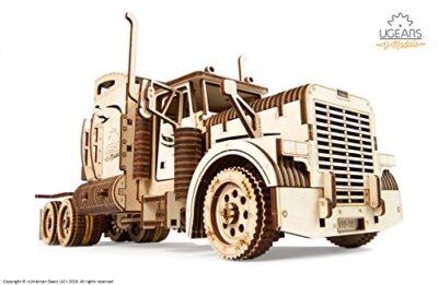 Ugears Vm 03 Camion In Legno Da Montare Modello In Miniature Fai Da Te Con Cabina Per Conducente Ricco Di Dettagli E Funzionante Ecologico Si Assembla Senza Colla Ottima Idea Regalo 0 0