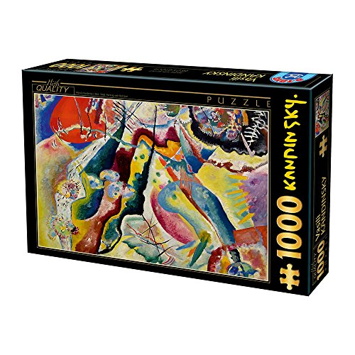 Unbekannt Puzzle Da 1000 Pezzi Di Kandinsky Vassily Painting With Red Spot 0