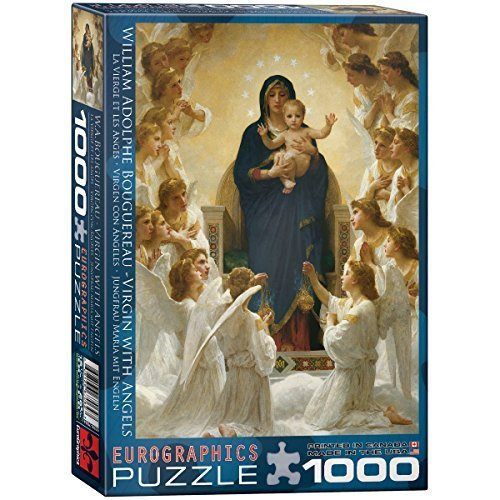 Virgin With Angels By William Bouguereau 1000 Piece Puzzle By Eurographics 0