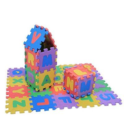 Zerodis 36pcs Schiuma Morbido Eva Infantile Gioca Ai Tappetini Per Puzzle Numeri E Lettere Giocando Crawling Tampone Non Tossico Giocattoli Per Bambini Ragazzo Ragazza Compleanno Natale Regalo 0