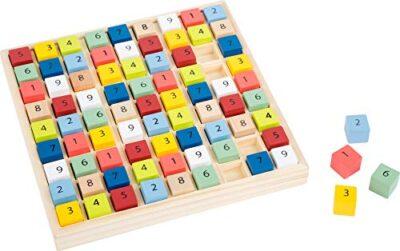 Small Foot 11164 Sudoku Colorato Educare In Legno Con 81 Cubi Numerici Dai Colori Vivaci Per Stupore A Partire Da 6 Anni 0