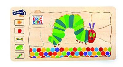 10431 Puzzle A Strati Bruco Maisazio Small Foot In Legno 5 Strati Con Diversi Motivi Da 3 Anni In Poi 0