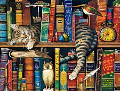 Buffalo Games Charles Wysocki Cats Frederick The Literate Jigsaw Puzzle 750 Piece 0
