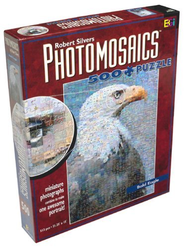 Buffalo Games Robert Silvers Photomosaics 500 Piece Puzzle Bald Eagle By By 0