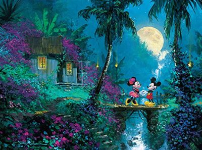 Ceaco Disney Mickey Mouse Fine Art Moonlight Proposal Puzzle 1000 Piece By Ceaco 0