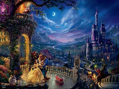 Ceaco Thomas Kinkade Disney Dreams Beauty And The Beast In The Moonlight Puzzle 300 Pieces 0