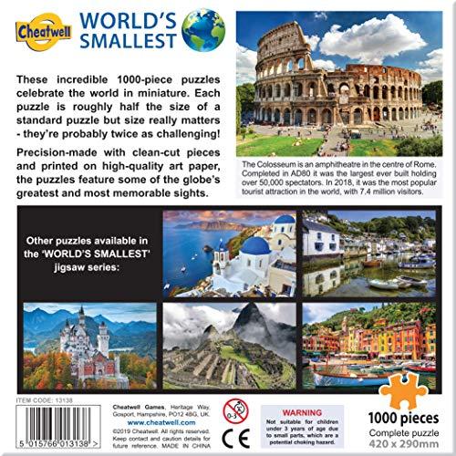 Cheatwell Games Colosseum Jigsaw Puzzle Colosseo Piu Piccolo Del Mondo 1000 Pezzi Colore 13138 0 1