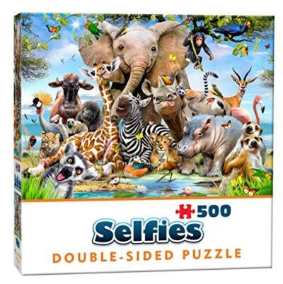 Cheatwell Games Puzzle Da 500 Pezzi Motivo Selfie Delle Creature Selvatiche Colore 28422 0