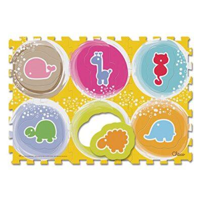Chicco Gioco Tappeto Puzzle Degli Animali Morbido Tappeto Per Gattonare Composto Da 6 Tesserecomponibili 1 4 Anni 0