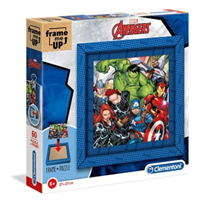 Clementoni 38801 Frame Me Up Marvel Avengers 60 Pezzi Made In Italy Puzzle Cornice Bambino 6 Anni 0