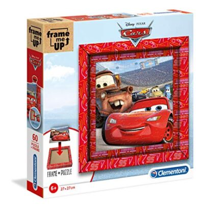 Clementoni 38802 Frame Me Up Disney Cars 60 Pezzi Made In Italy Puzzle Cornice Bambino 6 Anni 0