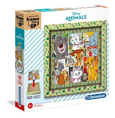Clementoni 38804 Frame Me Up Disney Animals 60 Pezzi Made In Italy Puzzle Cornice Bambino 6 Anni 0