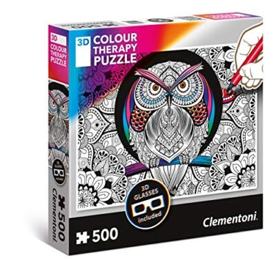Clementoni Color Owl Therapy Puzzle 3d Multicolore 500 Pezzi 35050 0
