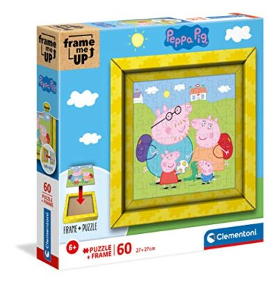 Clementoni Peppa Pig Frame Me Up Pig 60 Pezzi Made In Italy Bambini 6 Anni Puzzle Con Cornice Multicolore 38809 0