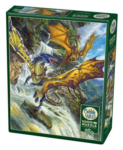 Cobble Hill 1000 Pc Waterfall Dragons Puzzle 1000 Pezzi Colore Various Ch80105 0