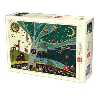 Deico Games 5947502876403 Puzzle Da 1000 Pezzi Motivo Nature Giorno E Notte Multicolore 0