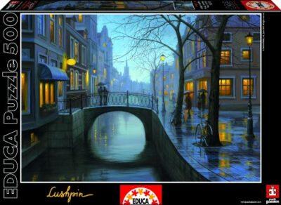 Educa 15175 Puzzle Serata Piovosa Evgeny Lushpin 500 Pezzi 0