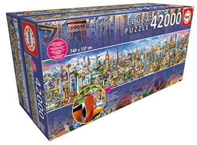 Educa 17570 Xxl Puzzles Il Giro Puzzle Piu Grande Del Mondo 42000 Pezzi Rif Colore Various 42000 0