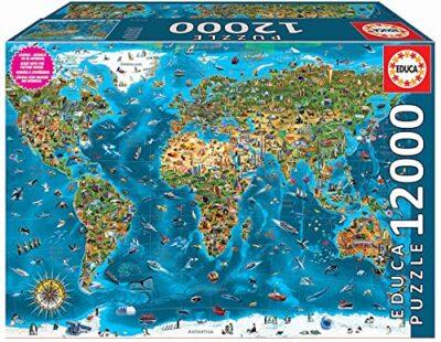 Educa 19057 Xxl Puzzles Meraviglie Del Mondo Grande Puzzle Di 12000 Pezzi Rif 12000 0