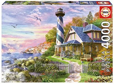 Educa 4000 Lighthouse At Rock Bay Puzzle Colore Vario 17677 0