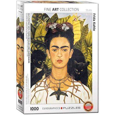 Eurographics Frida Kahlo Autoritratto Con Spine Collana E Colibri Puzzle 1000 Piece Multi Colour 0