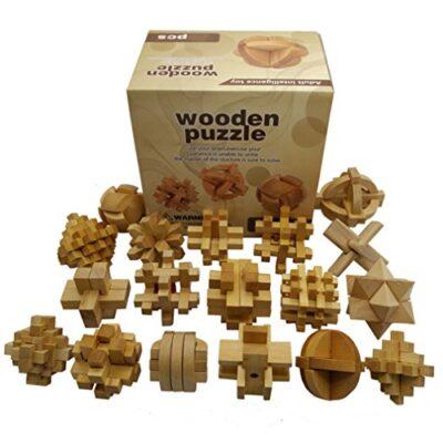 Holzsammlung Set Da 18 Rompicapo In Legno Gioco Di Cube 3d Puzzle Perfetto Regalo Di Natale Per I Tuoi Famiglia 11 0