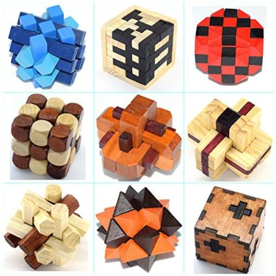 Holzsammlung Set Da 9 Rompicapo In Legno Gioco Di Cube 3d Puzzle Perfetto Regalo Di Natale Per I Tuoi Famiglia 18 0