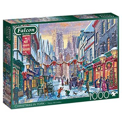 Jumbo 11277 Puzzle Falcon De Luxe Christmas In York 1000 Pezzi Multicolore 0