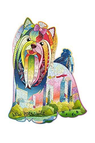 Legno Trick New Yorkshire Puzzle In Legno Per Adulti E Bambini 43 X 335 Cm A Forma Di Animale Unico Puzzle Qualita Premium 0
