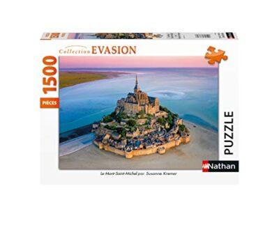 Nathan Puzzle 1500 Pieces Le Mont Saint Michel Adulto Colore 4005556878055 0