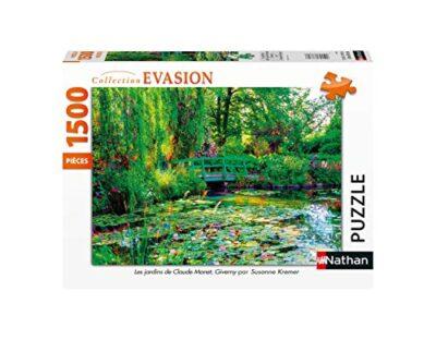Nathan Puzzle 1500 Pieces Les Jardins De Claude Monet Giverny Adulto Colore 4005556878000 0