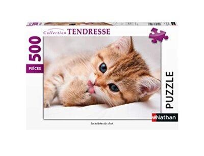 Nathan Puzzle 500 Pieces La Toilette Du Chat Adulto Colore 4005556872411 0
