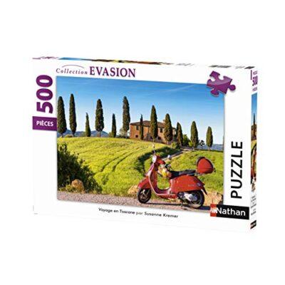 Nathan Puzzle Da 500 Pezzi Viaggio In Toscana Adulto 4005556872206 Colore Nero 0
