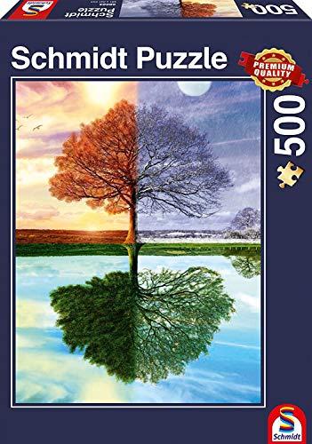 Schmidt Puzzle Lalbero Delle Quattro Stagioni 500 Pezzi 58223 0