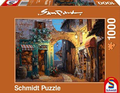 Schmidt Sam Park Puzzle Tematica Vicolo Sul Lago Di Como 1000 Pezzi 0