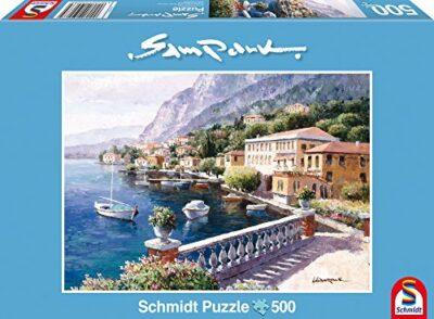 Schmidt Sam Park Puzzle Tematica Villa Sul Lago Di Como 500 Pezzi 0