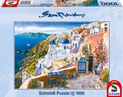 Schmidt Spiele 58560 Sam Park Santorini Grecia Puzzle Da 1000 Pezzi 0