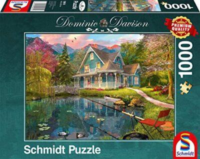 Schmidt Spiele Dominic Davison Puzzle Da 1000 Pezzi Sedile Di Riposo Sul Lago Multicolore 59619 0