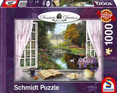 Schmidt Spiele Dominic Davison Puzzle Da 1000 Pezzi Soggetto Giardino Del Castello 59590 0