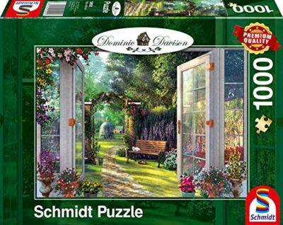 Schmidt Spiele Dominic Davison Puzzle Da 1000 Pezzi Con Immagine Di Un Giardino 59592 0