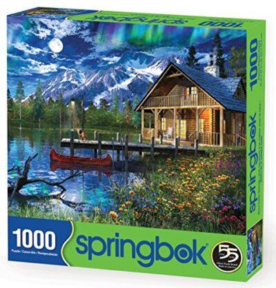 Springboks 1000 Piece Jigsaw Puzzle Moon Cabin Retreat 0 0