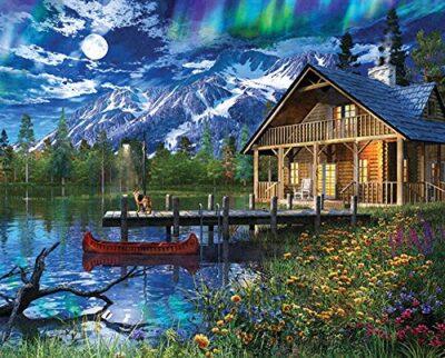 Springboks 1000 Piece Jigsaw Puzzle Moon Cabin Retreat 0