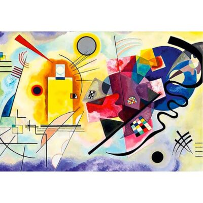 Puzzle 1000 Pezzi Kandinsky Giallo Rosso Blu Dtoys Opera Arte.jpg