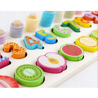 Puzzle In Legno Numeri E Frutta Per Bambini.jpg