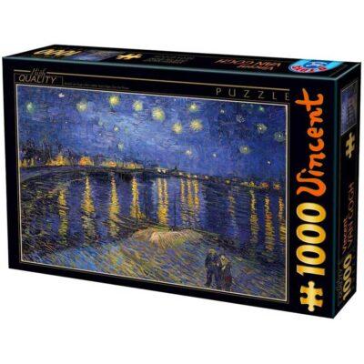 Puzzle Notte Stellata Sul Rodano Van Gogh 1000 Pezzi Dtoys.jpg