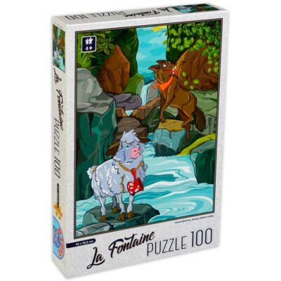 Puzzle Per Bambini 4 Anni 100 Pezzi Lupo Agnello Dtoys.jpg